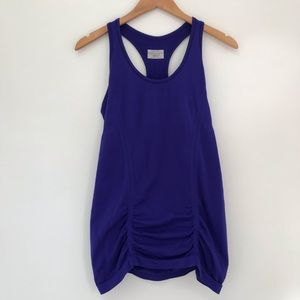 EUC Athleta fastest track blue Racerback tank top
